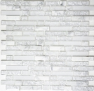 Mosaik Fliese Transluzent weiß Verbund Glasmosaik Crystal Stein weiß MOS87-V1311