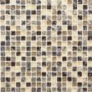Mosaik Fliese Transluzent dunkelbeige Glasmosaik Crystal Stein emperador dunkel MOS92-1055