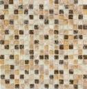 Mosaikfliese Transluzent hellbeige Glasmosaik Crystal Stein emperador hell MOS92-1053