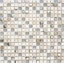 Mosaikfliese Transluzent hellgrau silber Glasmosaik Crystal Stein EP hellgrau silber MOS92-HQ10