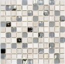 Mosaik Fliese Transluzent hellgrau silber Glasmosaik Crystal Stein EP hellgrau silber MOS92-HQ20