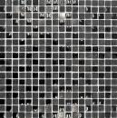 Mosaik Fliese Transluzent dunkelgrau schwarz Glasmosaik Crystal Stein Relief dunkelgrau schwarz MOS83-HQ19
