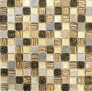 Mosaikfliese Transluzent gold braun Glasmosaik Crystal Stein gold braun Struktur MOS83-CR17