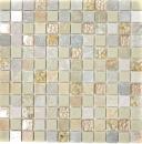 Mosaikfliese Transluzent gold beige Glasmosaik Crystal Stein gold beige Struktur MOS83-CR27