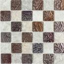Mosaikfliese Transluzent grau Glasmosaik Crystal Stein Design Quarzit grau MOS88-CR73