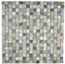 Mosaikfliese Transluzent grau Glasmosaik Crystal Stein Resin grau Quarzit MOS92-02M7