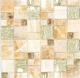 Mosaikfliese Transluzent bernstein gold Kombination Glasmosaik Crystal Stein Onyx Eleganz gold MOS88-MC649