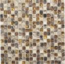 Mosaikfliese Transluzent beige braun Glasmosaik Crystal Stein beige braun MOS92-1303