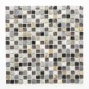 Mosaikfliese Transluzent beige braun grau schwarz Glasmosaik Crystal Stein MOS92-0209