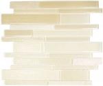 Mosaikfliese Transluzent beige Verbund Glasmosaik Crystal Stein beige MOS67-GV14