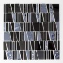 Mosaikfliese Transluzent schwarz Leiter Glasmosaik Crystal Stein EP schwarz MOS87-0107