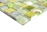 Mosaikfliese Transluzent grün Glasmosaik Crystal Stein Muschel grün MOS82C-0502