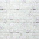 Mosaik Fliese Transluzent weiß Glasmosaik Crystal Stein Cream weiß MOS94-2503