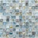 Mosaik Fliese Transluzent hellgrau Glasmosaik Crystal Stein Cream hellgrau MOS94-2505