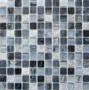 Mosaikfliese Transluzent grauschwarz Glasmosaik Crystal Stein Cream grauschwarz MOS94-2507