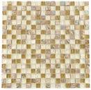 Mosaikfliese Transluzent hellbraun beige Glasmosaik Crystal Stein hellbraun beige MOS92-1213