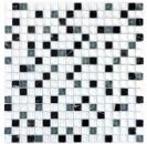 Mosaikfliese Transluzent weiß grau Glasmosaik Crystal Stein superweiß matt schwarz MOS92-0103