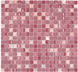 Mosaikfliese Transluzent rosa Glasmosaik Crystal Stein rosa BAD WC Küche WAND MOS92-1002