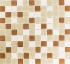 Mosaikfliese Transluzent beige Glasmosaik Crystal Stein beige MOS62-1204-GN