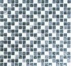 Mosaikfliese Transluzent grau Glasmosaik Crystal Stein grau MOS92-0204