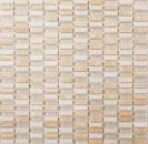 Mosaik Fliese Transluzent beige Stäbchen Glasmosaik Crystal Stein beige MOS87-1412