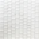 Mosaik Fliese Transluzent weiß Stäbchen Glasmosaik Crystal Stein weiß weiß matt MOS87-1401