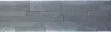 Wandverblender selbstklebend Schiefer Naturstein schwarz Wandverblender Black Salte MOS200-03V9S