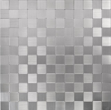 Mosaikfliese selbstklebend Aluminium silber metall metall MOS200-22M25