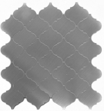 Mosaikfliese selbstklebend Aluminium silber metall Florentiner metall MOS200-22LAT