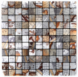 Mosaikfliese selbstklebend Aluminium silber metall Weltkarte Silber MOS200-KA25S