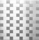 Mosaikfliese selbstklebend Aluminium silber metall Kombination metall MOS200-4MM87