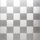 Mosaikfliese selbstklebend Aluminium silber metall metall MOS200-4MM99