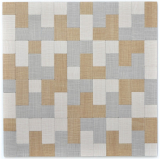 Mosaikfliese selbstklebend Aluminium creme beige grau Kombination metall Textiloptik MOS200-2522