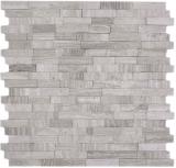 Mosaik Fliese selbstklebend Marmor Naturstein grauweiß Naturstein white wood MOS200-0120