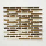 Mosaik Fliese selbstklebend Vinyl Folie Vinyl braun Vinyl brown marble 4er Pack MOSVinyl-24088