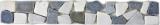 Marmor Naturstein grau weiß schwarz Borde Bordüre Ciot grau weiß schwarz MOSBor-WG0102