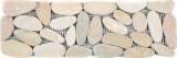 Flußkiesel hellbeige Borde Bordüre Kiesel geschnitten weiß 5 7 MOSBor-SK1202