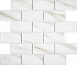 Keramikmosaik Metro Calacatta Fliesenspiegel Küchenrückwand BAD Dusche MOS26M-0204_f
