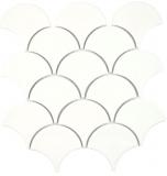 Keramik Mosaik Fächer elfenbein glänzend Wand Fliesenspiegel Küche Dusche Bad