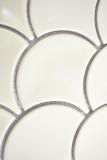 Keramik Mosaik Fächer elfenbein glänzend Wand Fliesenspiegel Küche Dusche Bad MOS13-FS09_m
