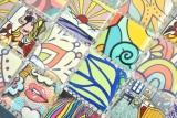 Bunte Retro Style Mosaikfliesen POP UP ART Design Küchenrückwand MODERN MOS14-1606_m