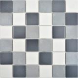 Keramik Mosaik grau