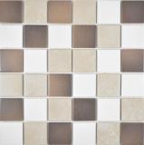 Keramik Mosaik beigebraun