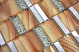 Aluminium Mosaik Glasmosaik ALU braun Wand Fliesenspiegel Küche Dusche Bad MOS88-0013_m