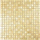Mosaik Stein Resin gold