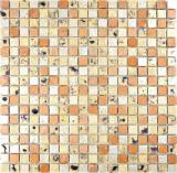 Mosaik Stein Resin gold bronze