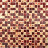 Mosaik Stein Resin gold rot Wand Fliesenspiegel Küche  Bad
