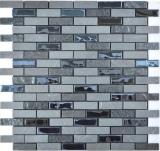 Transluzent   Mosaik Selbstklebend Verbund Glasmosaik Stein schwarz Glas