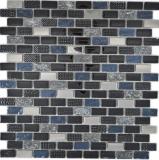 Transluzent   Glasmosaik Verbund Stein schwarz