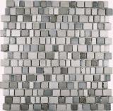 Transparentes Crystal Mosaik Glasmosaik grau beige Wand Fliesenspiegel Küche  Bad